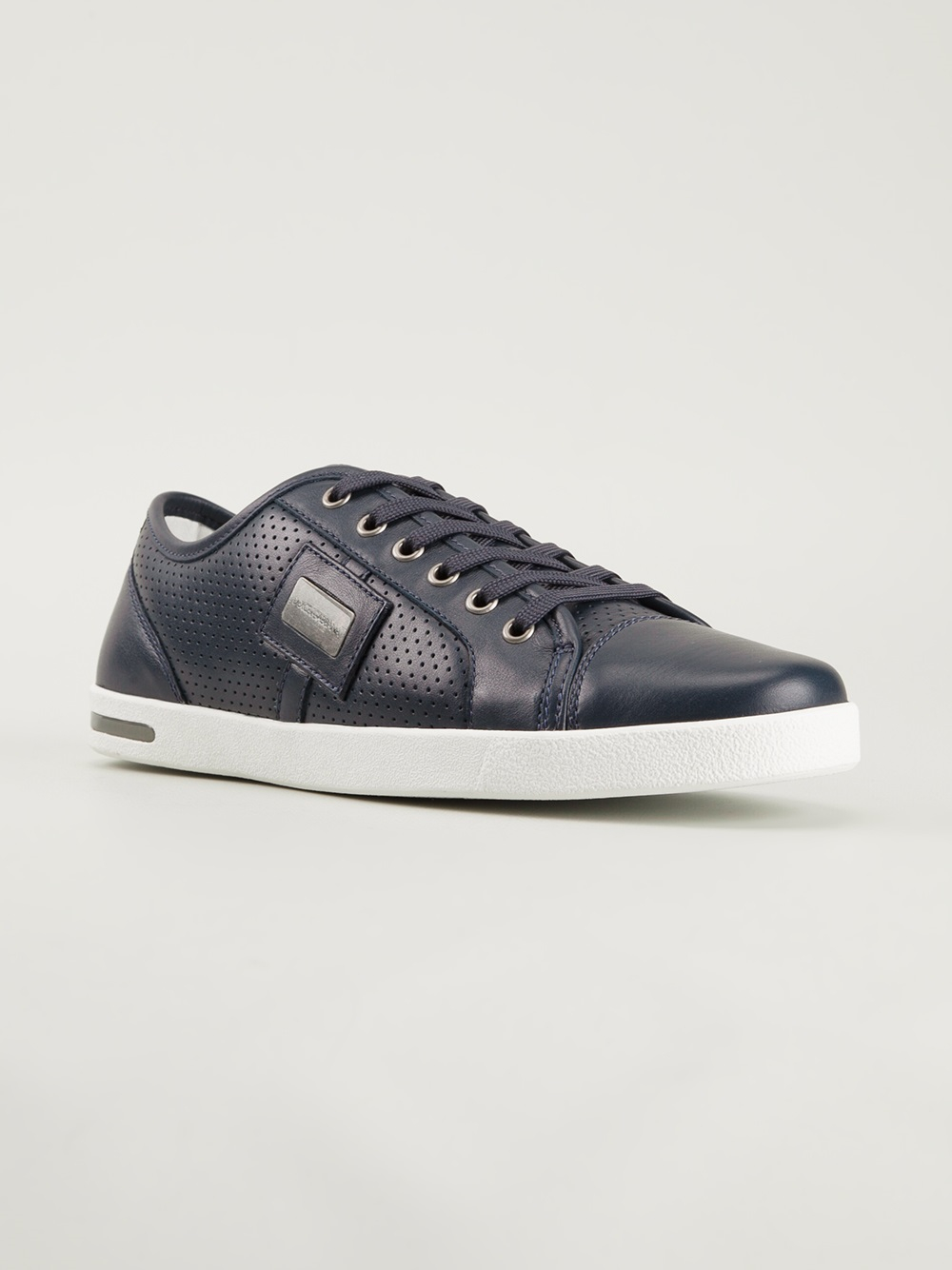 835f8ab9cc Lyst - Dolce   Gabbana Logo Plaque Sneakers in Blue for Men