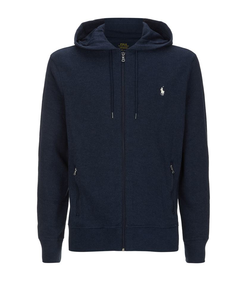 Polo Ralph Lauren French-Rib Full-Zip Black Hoodie | Euro Star Limos