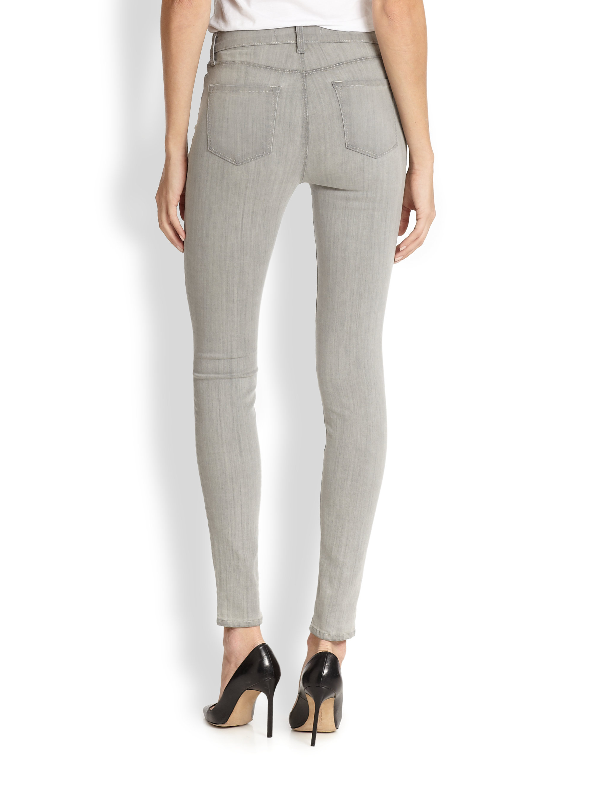 24d940e608e0 Lyst - J Brand Photoready Maria Highrise Skinny Jeans in Gray