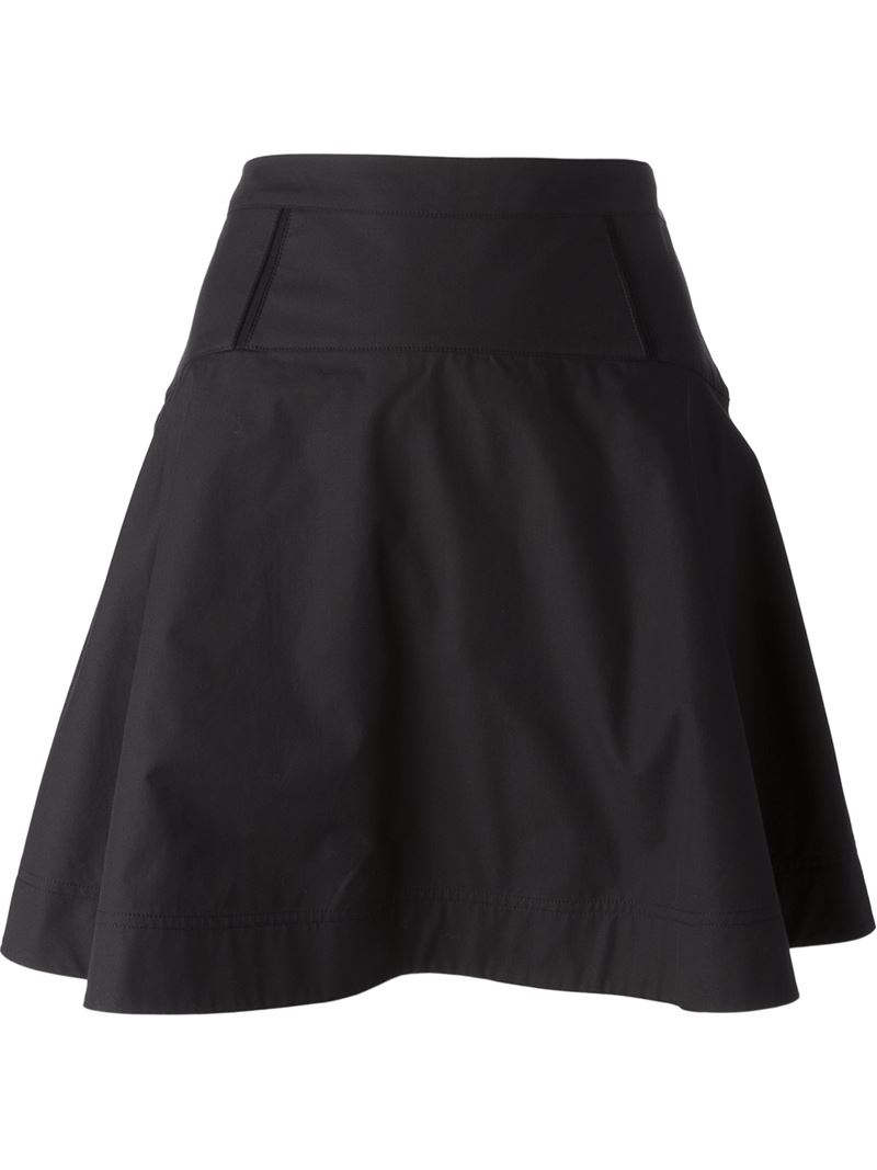 Proenza schouler Short A-line Skirt in Black | Lyst