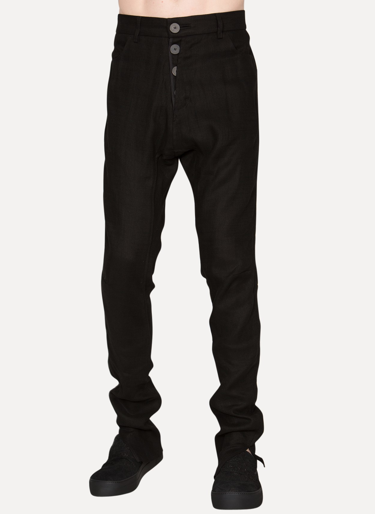 0087a110e81 Cedric jacquemyn Knee-dart Pants in Black for Men