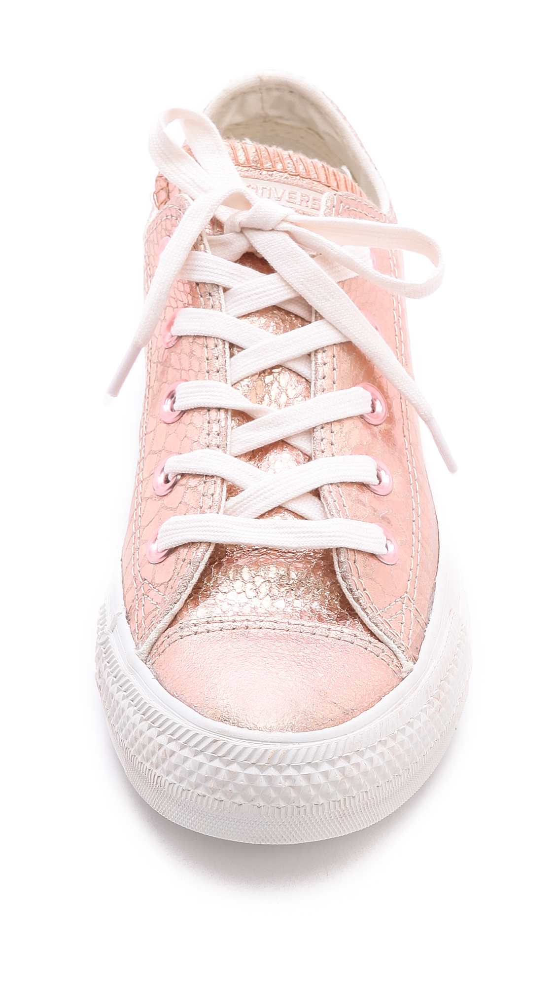 converse low top ox sneakers rose gold in pink lyst. Black Bedroom Furniture Sets. Home Design Ideas