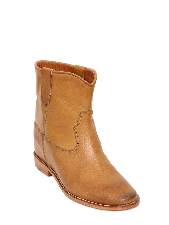 isabel marant etoile 70mm cluster leather boots in beige camel lyst. Black Bedroom Furniture Sets. Home Design Ideas