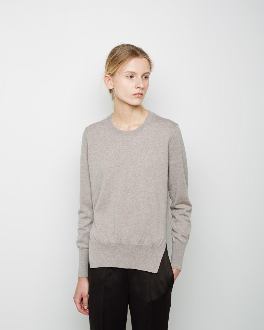 lyst toile isabel marant kerstin crewneck pullover in gray. Black Bedroom Furniture Sets. Home Design Ideas