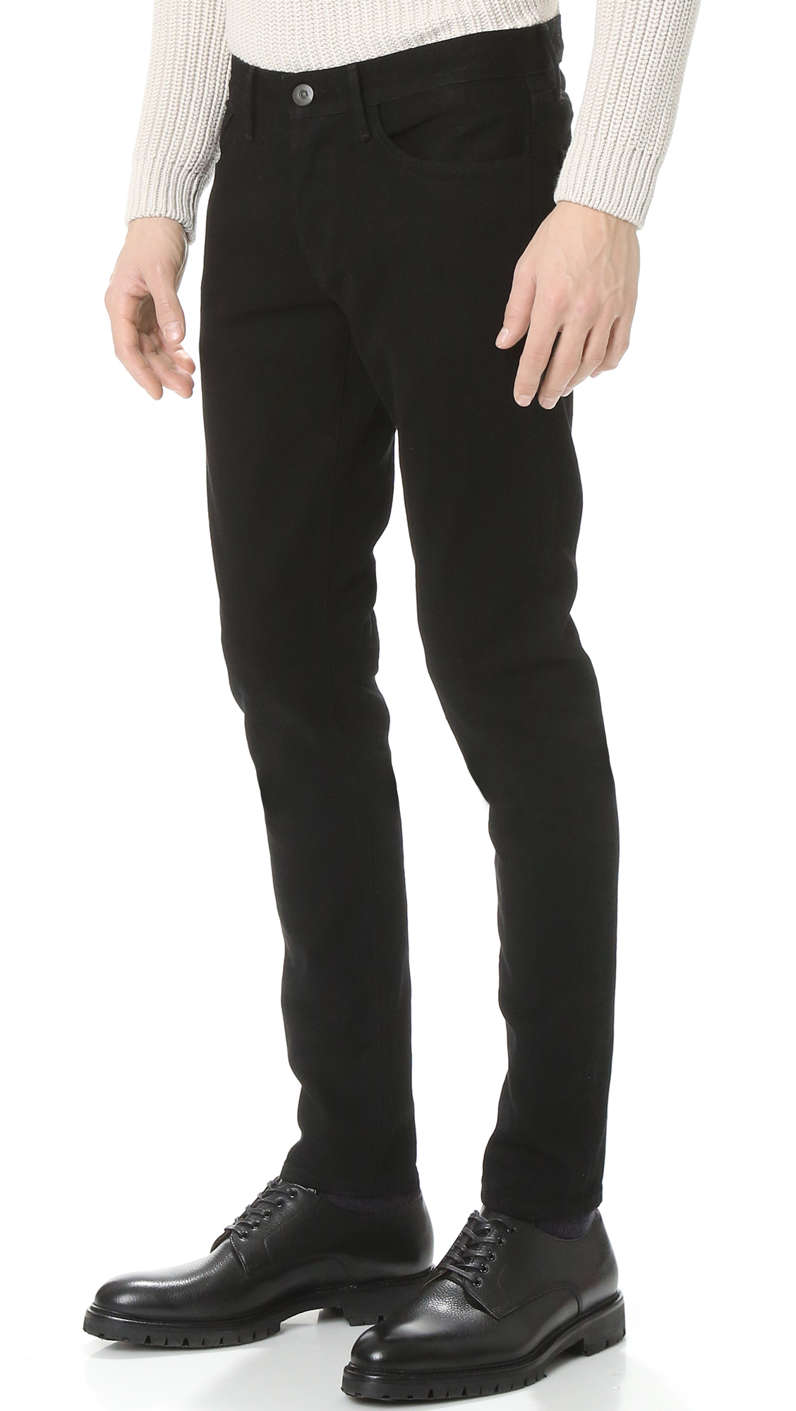 96a821fc 3x1 M5 Selvedge Skinny Jeans in Black for Men - Lyst