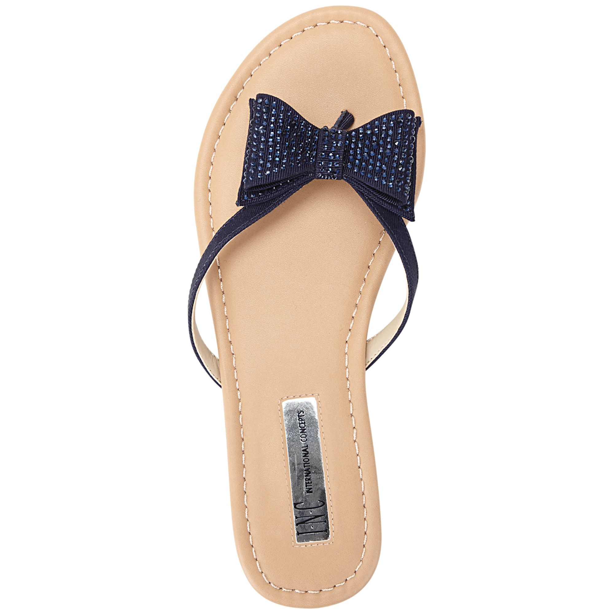 64b87a719 INC International Concepts Womens Maey Bow Thong Sandals in Blue - Lyst