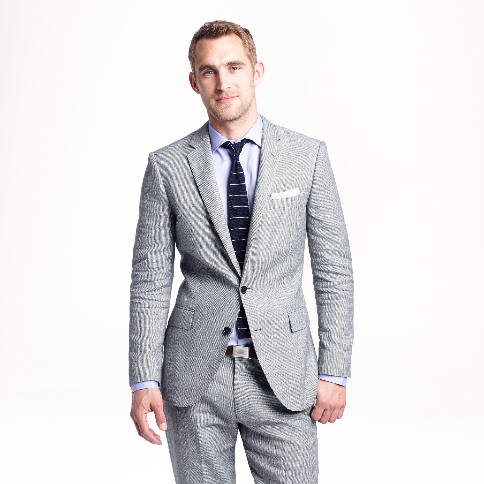 J Crew Ludlow Suit Jacket In Italian Linen Cotton In Gray