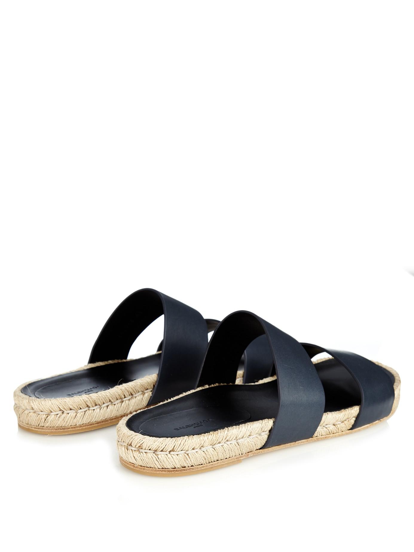 Lyst - Balenciaga Leather Espadrille Sandals in Blue for Men 5522eb0e55