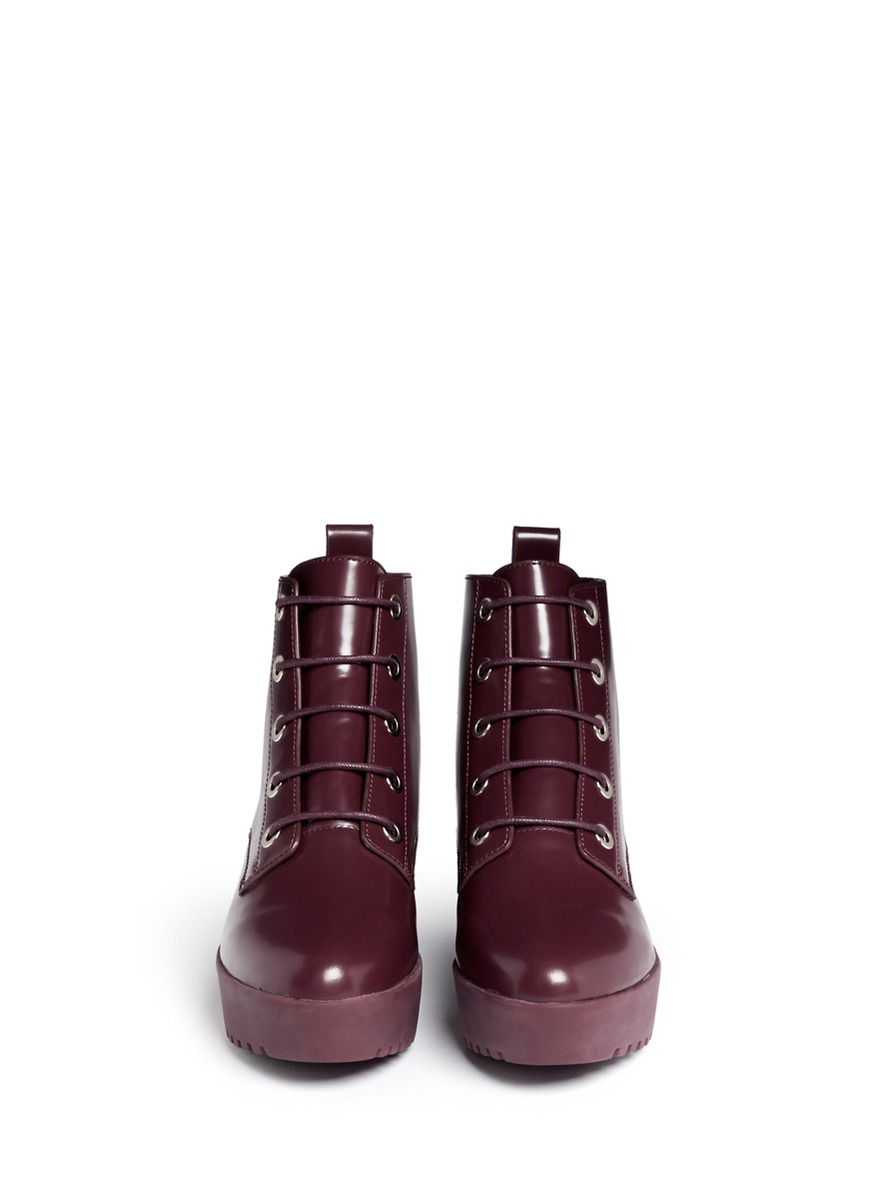 Opening Ceremony Leather Flatform Ankle Boots discount pre order official site for sale RJsI2Zeb