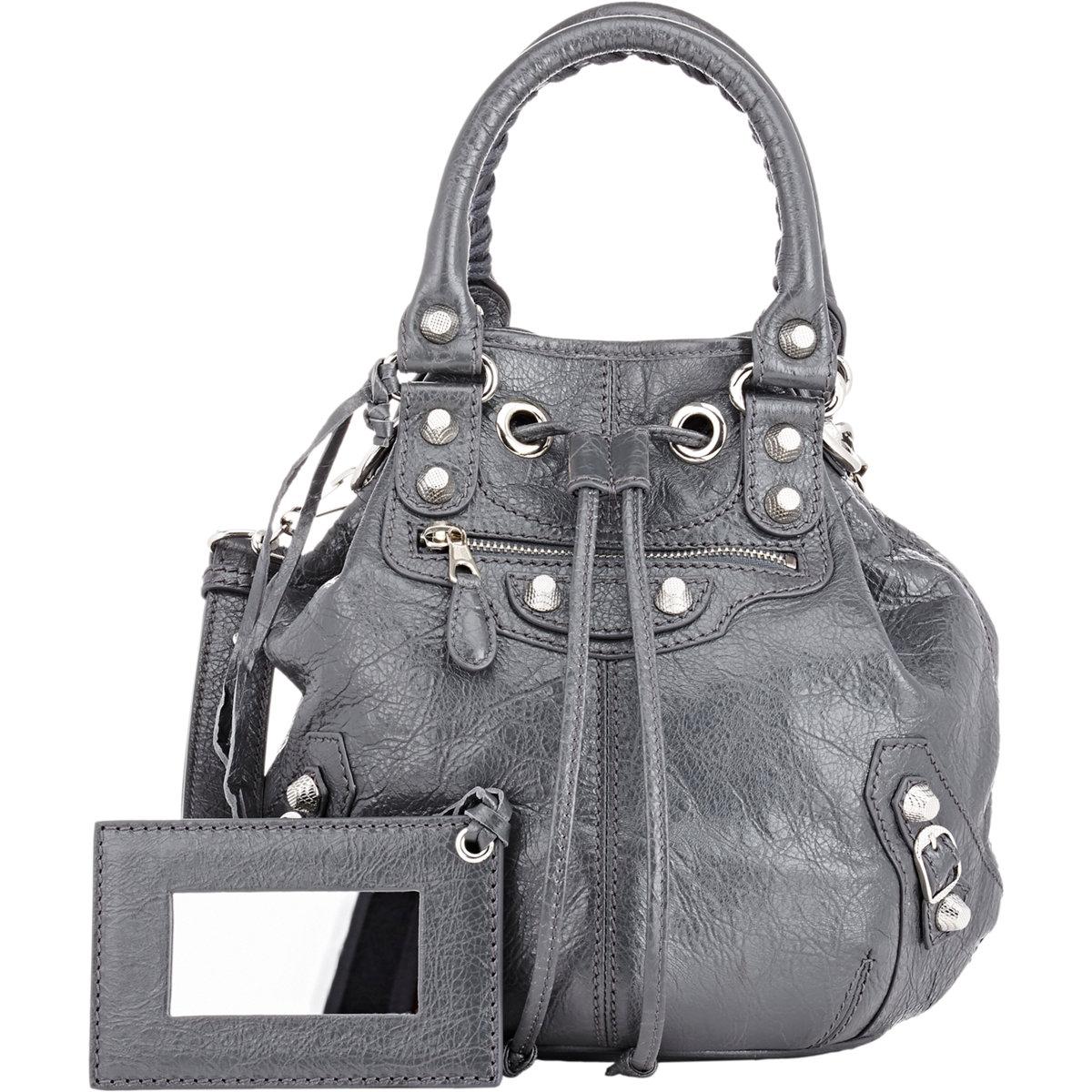 8f117d74b3a1 ... Balenciaga Arena Giant 12 Mini Pompon Bucket Bag in Gray (Grey) Lyst  hot sale ...