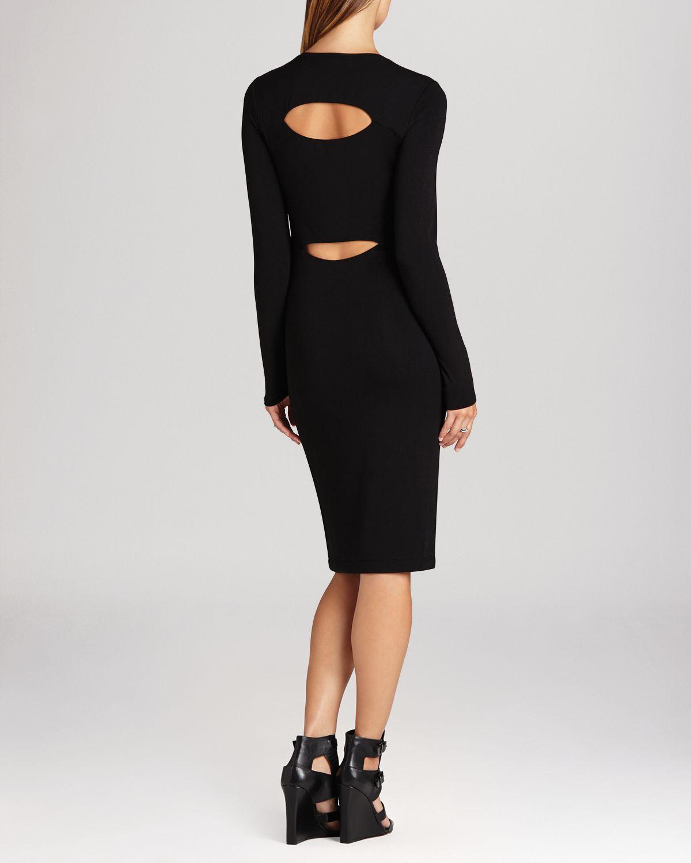 Bcbgmaxazria bcbg max azria dress savannah cutout back in black lyst
