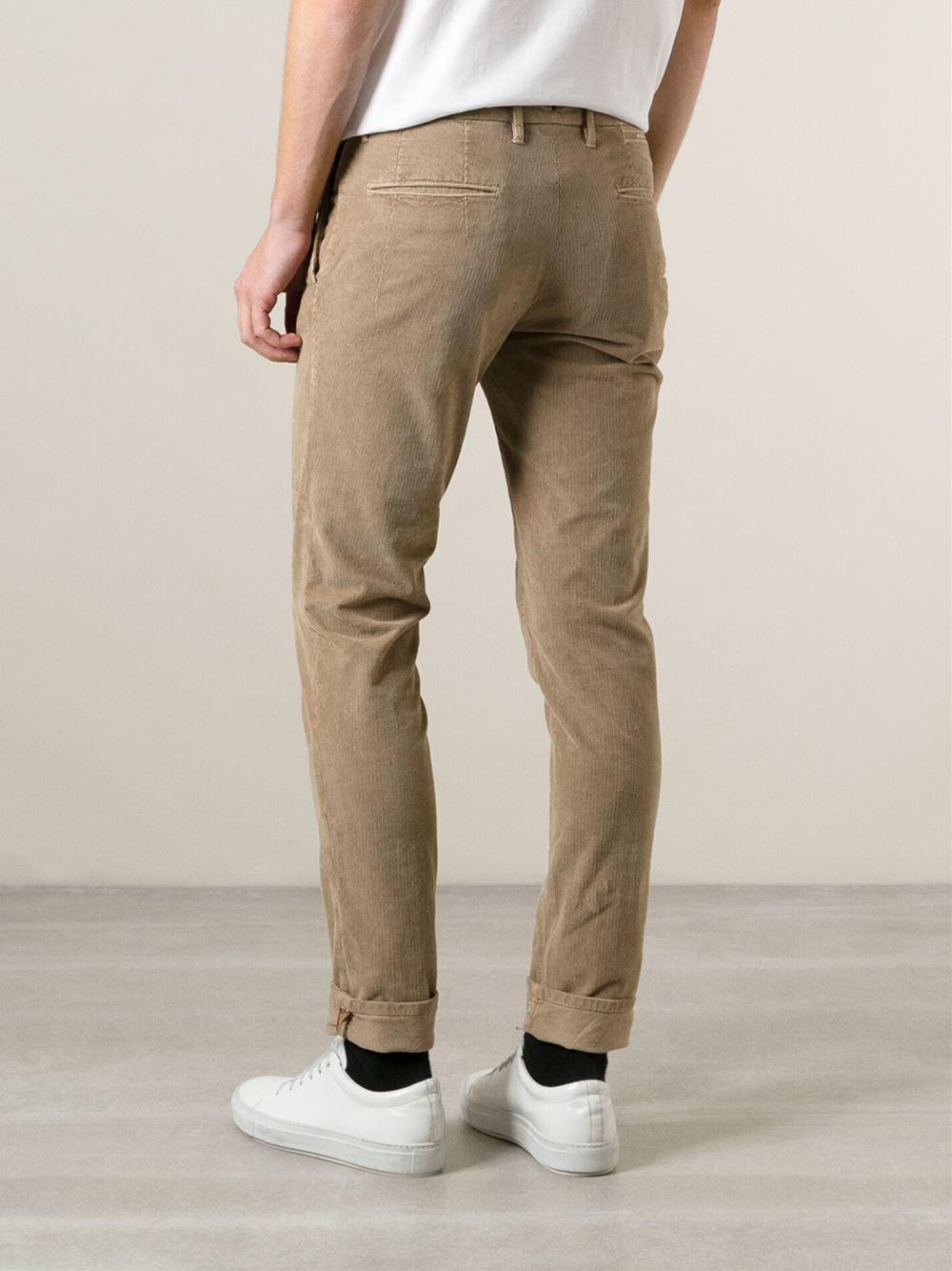 Pantalon Chino Slim-fit - Incotex Bleu MAOyGhF