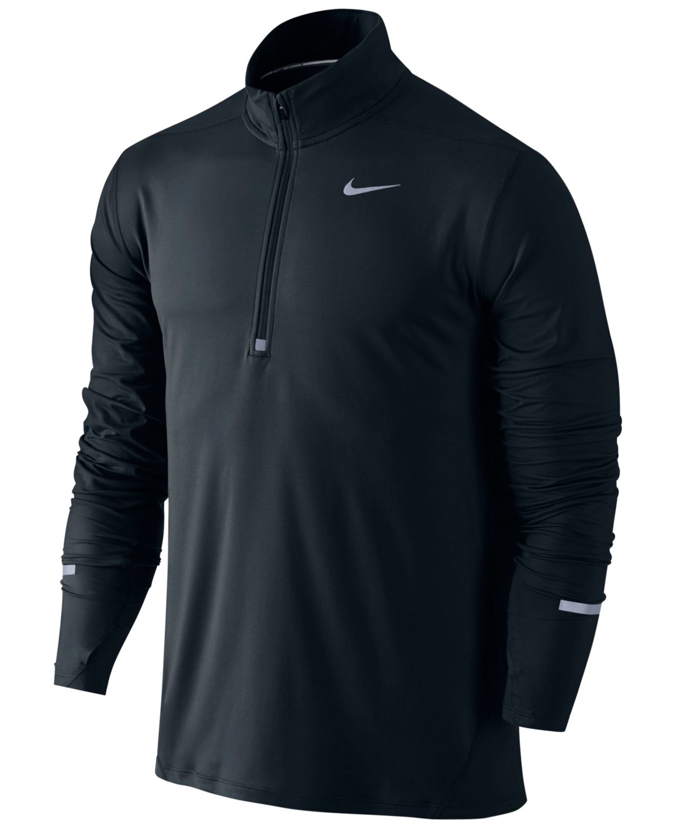 Nike Men 39 S Element Dri Fit Half Zip Running Shirt In Black