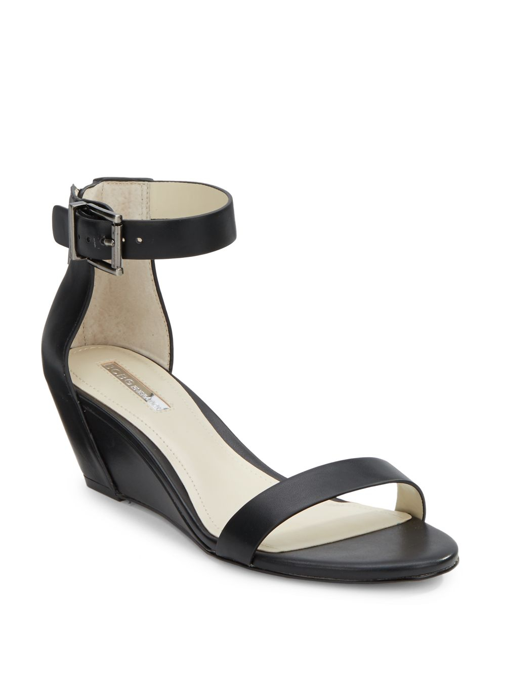 Lyst Bcbgeneration Vincent Faux Leather Wedge Sandals In
