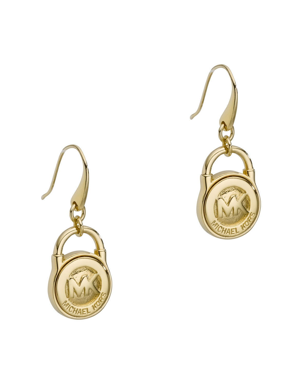 dbfa91a93e86 Lyst - Michael Kors Lock Earrings in Metallic