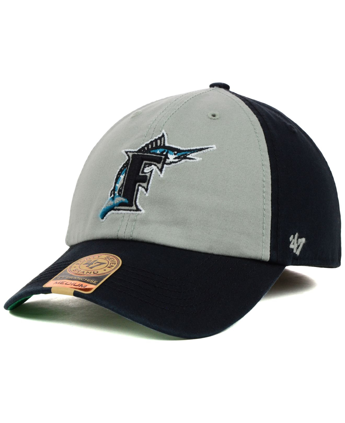 55c424b86e010 Lyst - 47 Brand Florida Marlins Mlb Vip Franchise Cap in Black for Men