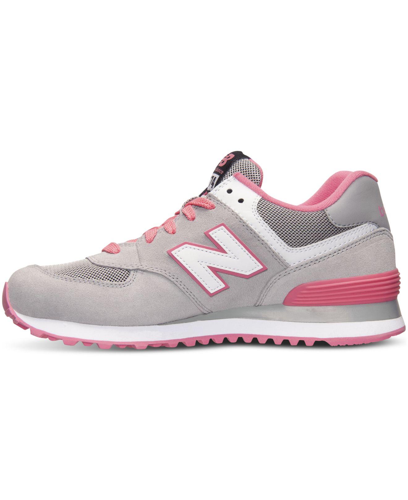 new balance 574 women's grey pink