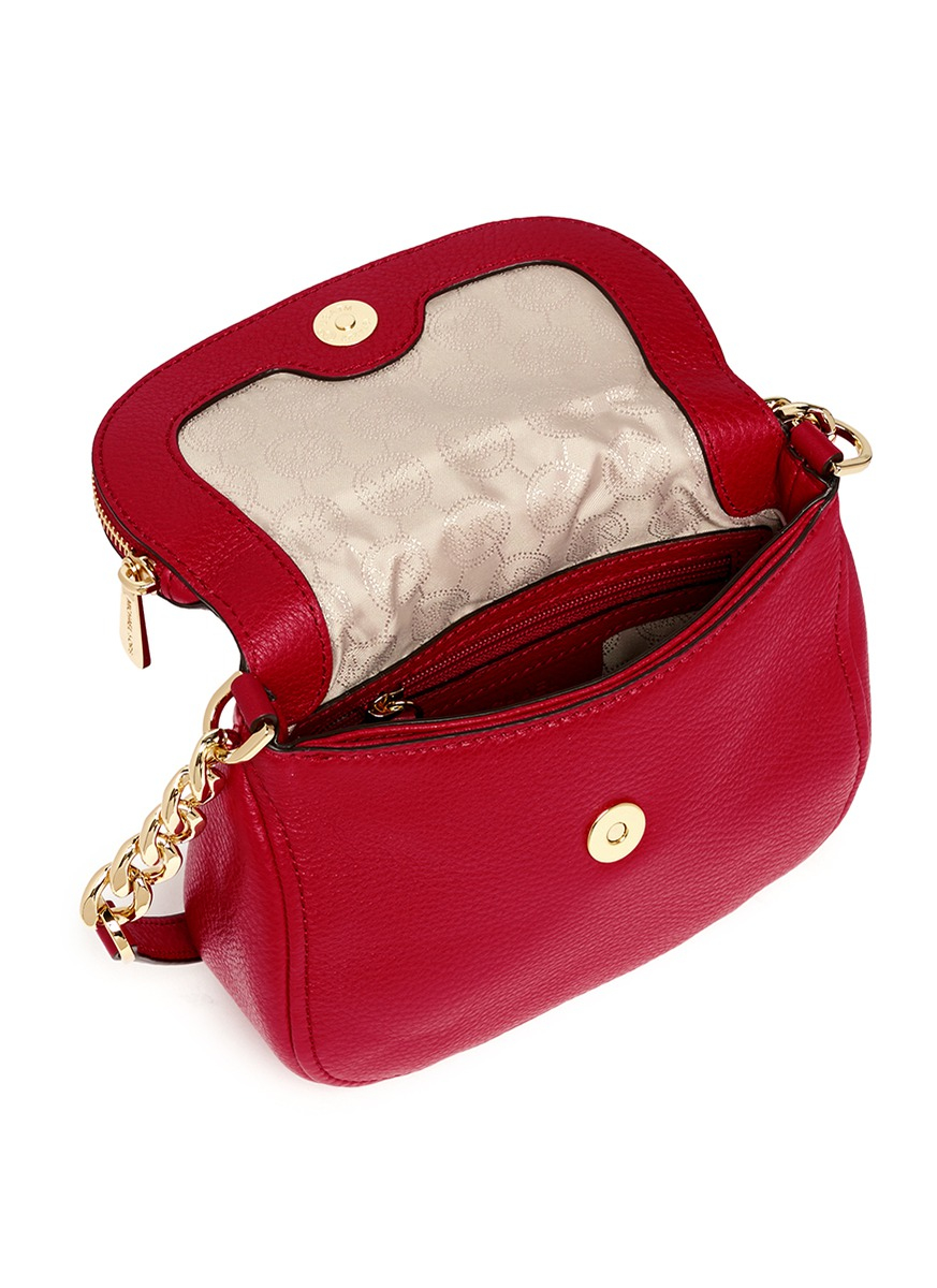 6a0186babb71 Michael Kors  bedford  Small Saffiano Leather Crossbody Bag in Red ...