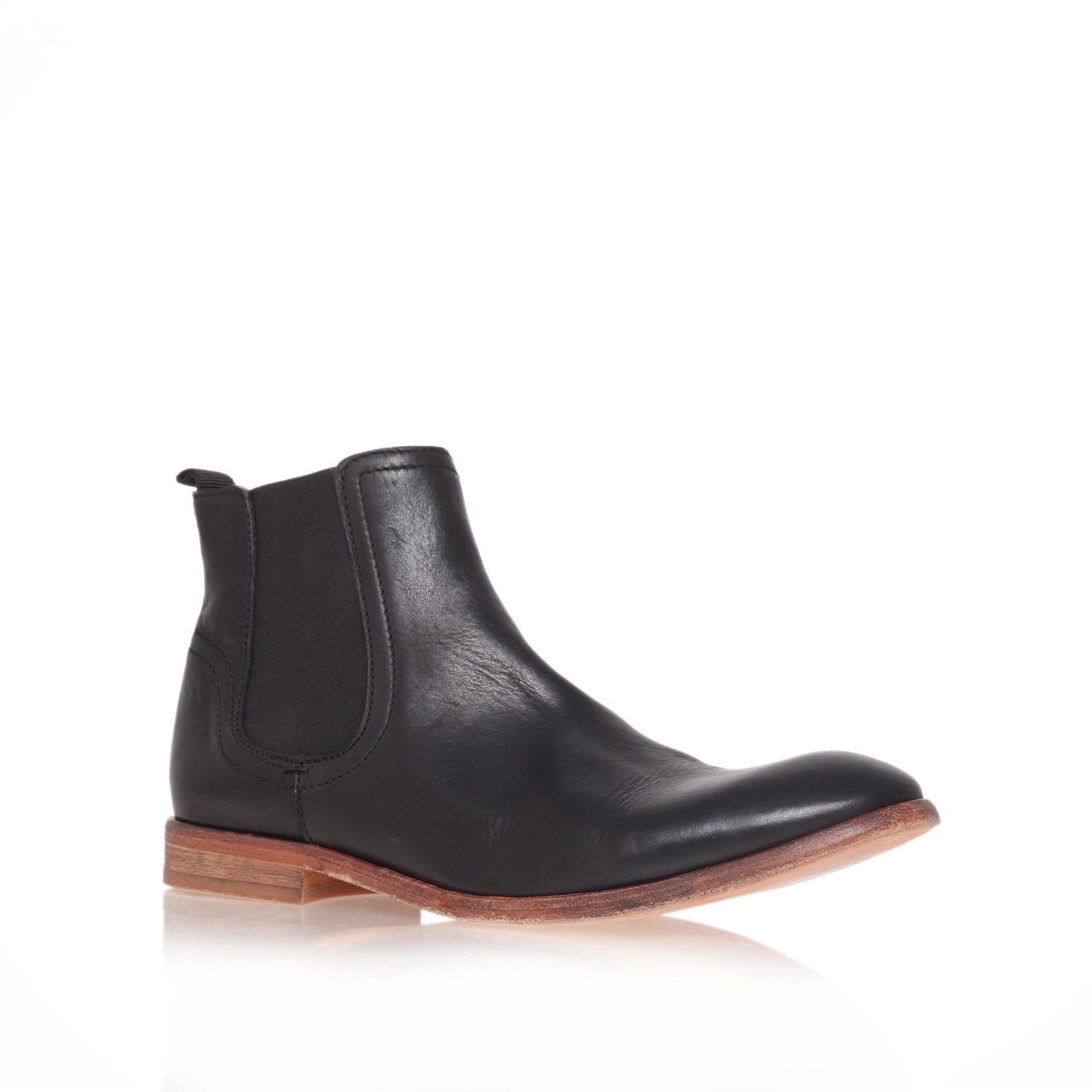 h by hudson patterson chelsea boot in black for men black. Black Bedroom Furniture Sets. Home Design Ideas