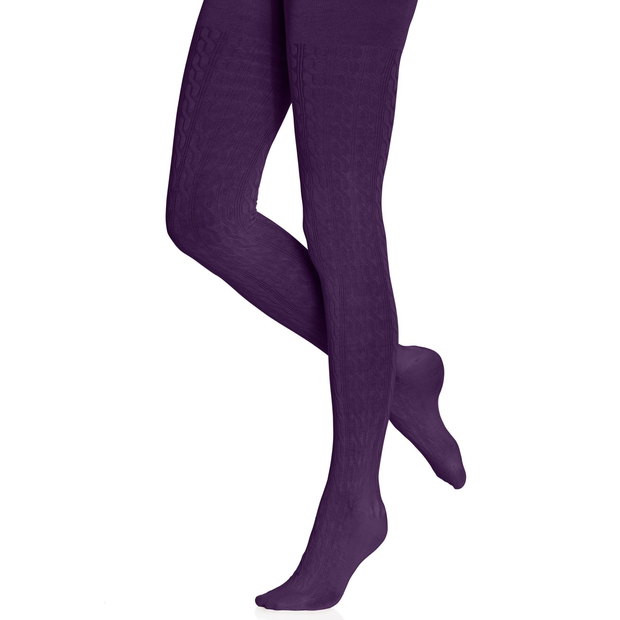 Hue Cable Knit Sweater Tights in Purple | Lyst