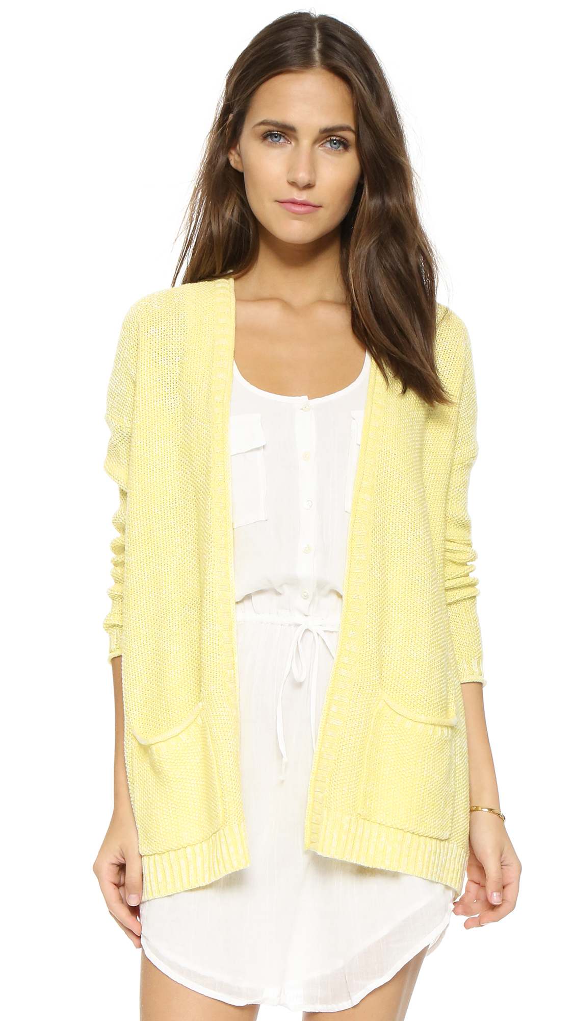 Soft joie Pavit Cardigan in Yellow | Lyst