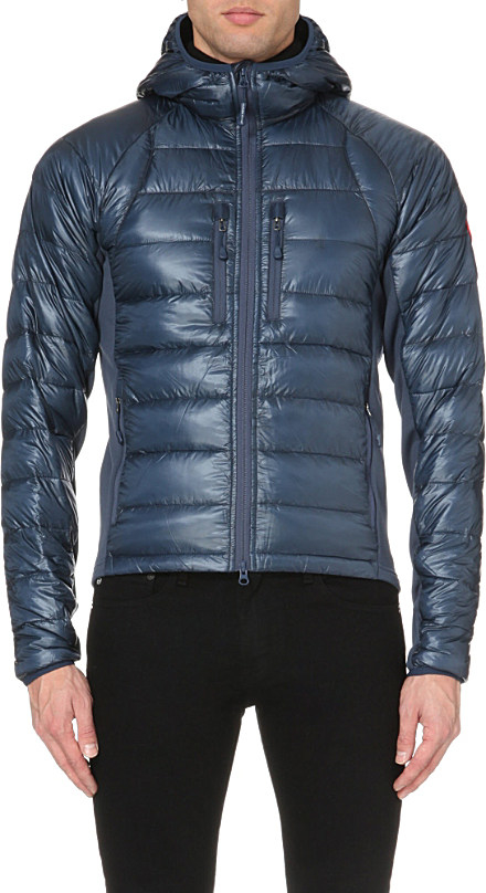 Canada Goose toronto sale fake - Canada goose Hybridge Lite Hooded Shell Jacket in Blue for Men ...