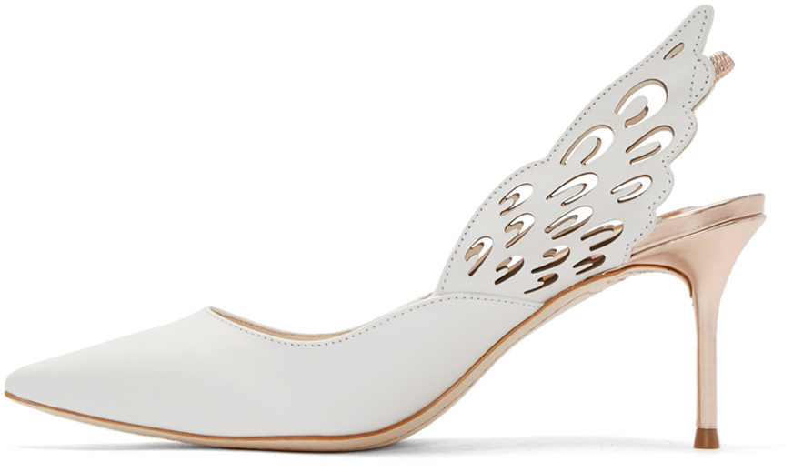 Lyst - Sophia webster White Winged Angelo Heels in White