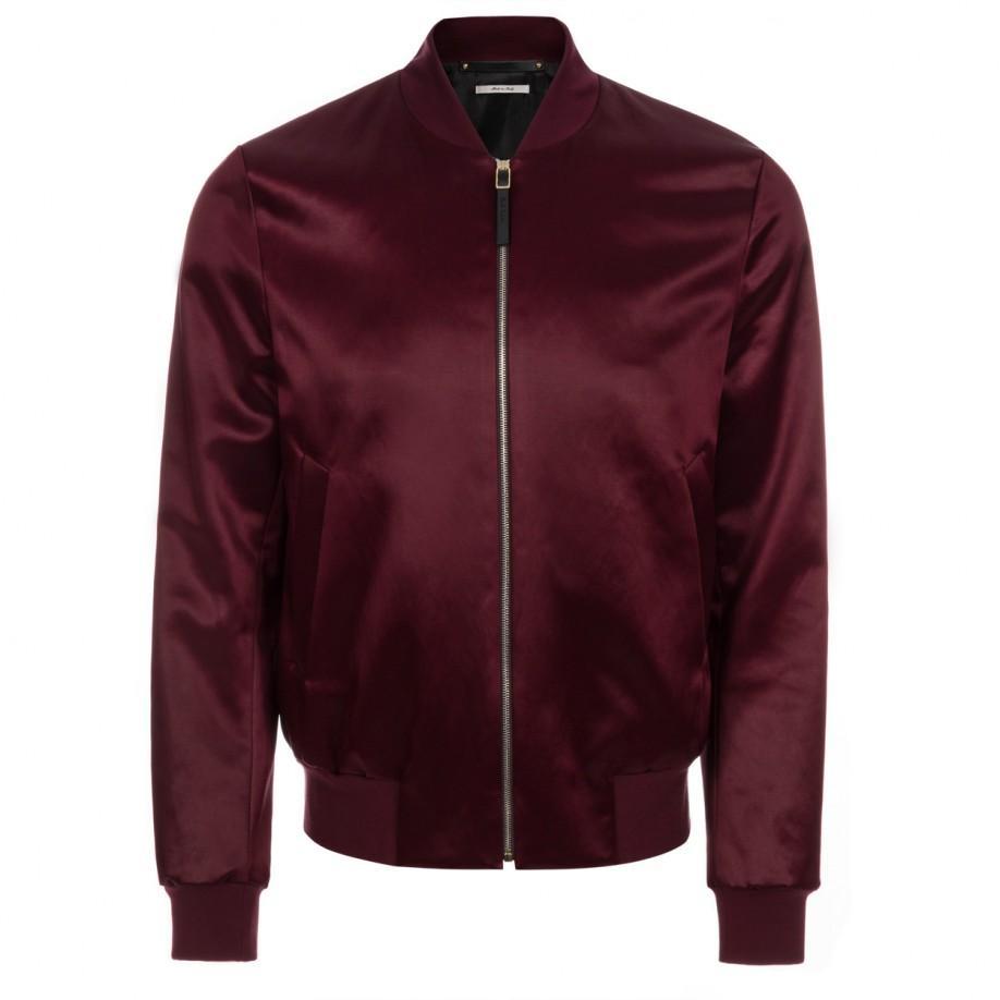 Paul smith Burgundy Satin Bomber Jacket in Purple for Men | Lyst