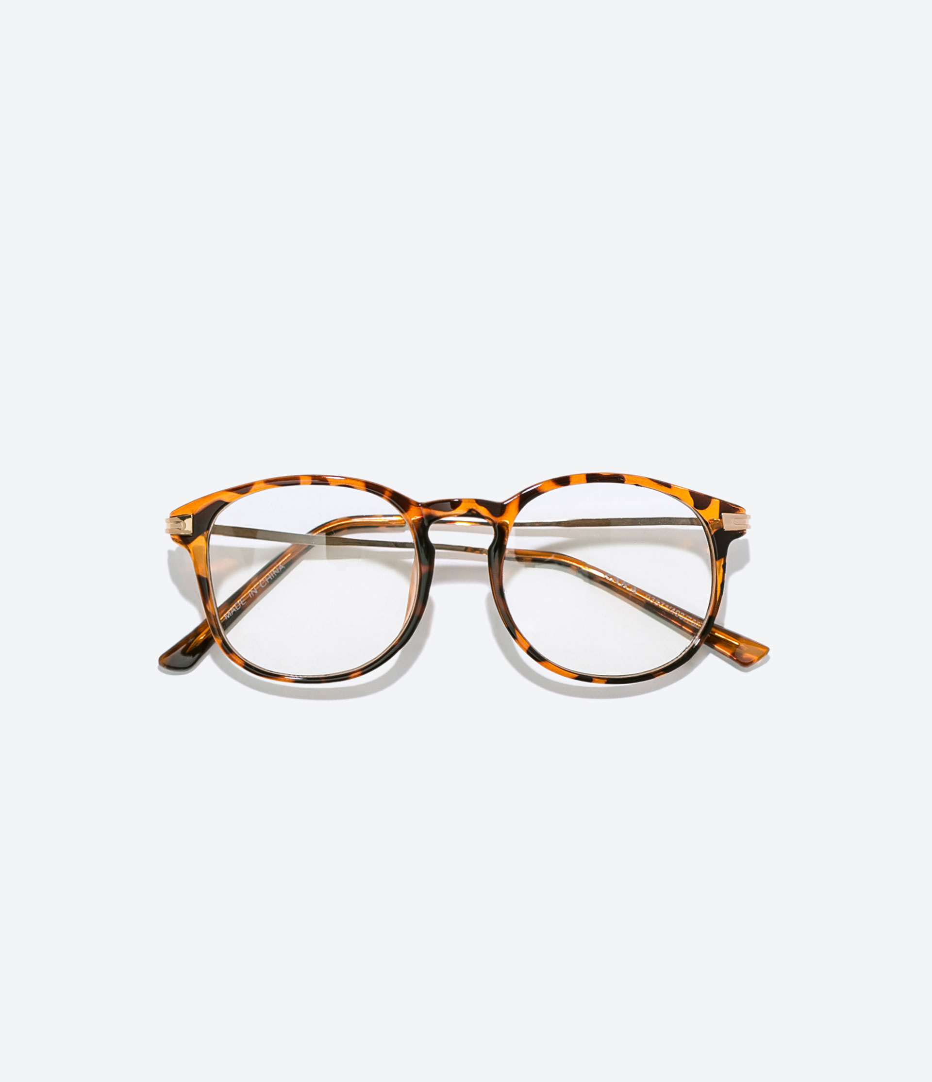 Zara Glasses Frames : Zara Glasses With Gold Arms in Brown for Men Lyst