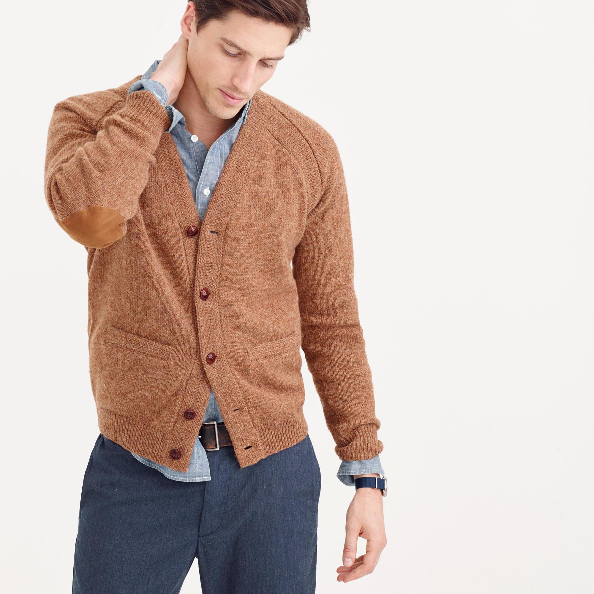 Jcrew Wallace Barnes English Shetland Wool Cardigan Sweater In