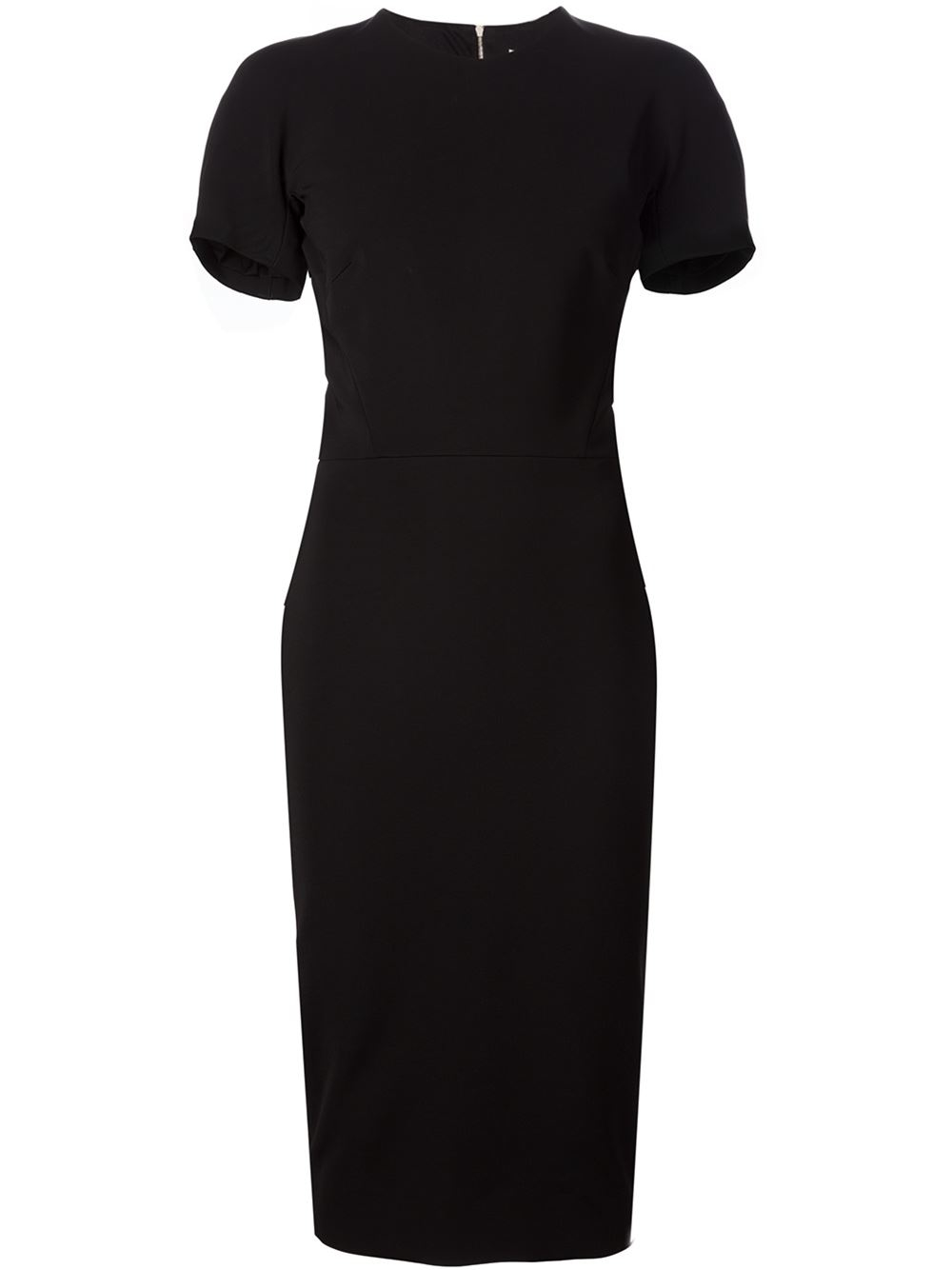 71edf173f22e Lyst - Victoria Beckham Mid-length Fitted Dress in Black