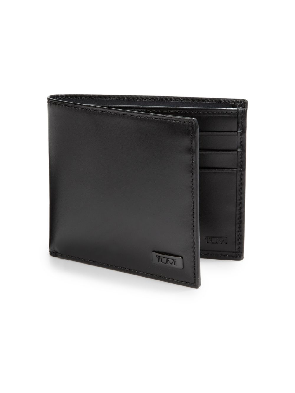 Tumi Horizon Double Billfold Leather Wallet In Black For