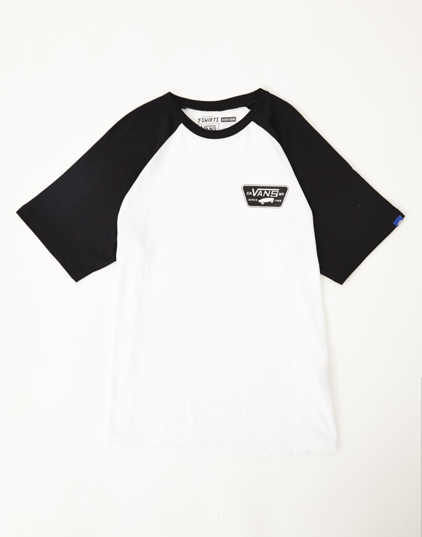 597b91a27d Lyst - Vans Full Patch Short Sleeve Raglan T-shirt White in White ...