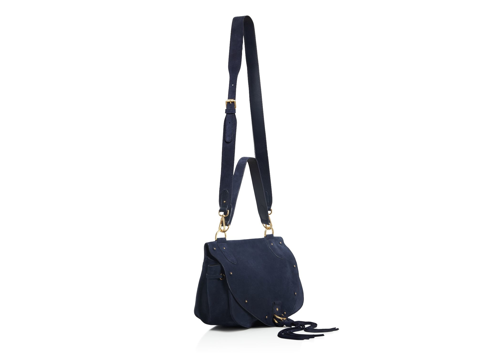 chleo handbags - See by chlo�� Collins Suede Saddle Bag in Black (Midnight) | Lyst