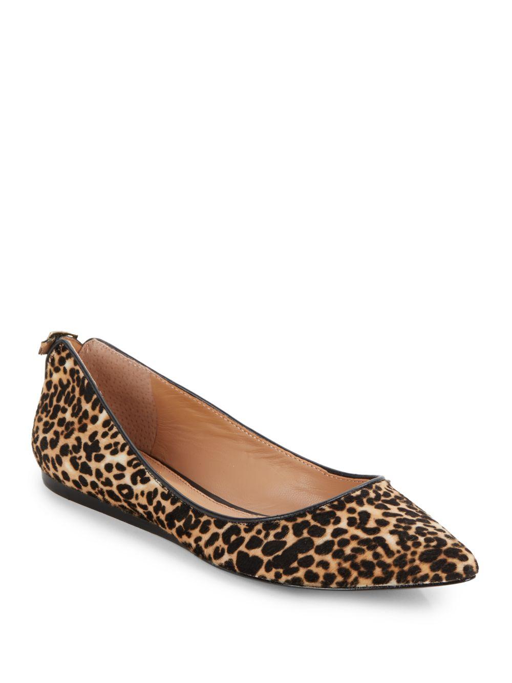 b73cf6dba922 Vince Camuto Signature Leopard-Print Calfhair Ballet Flats in Black ...
