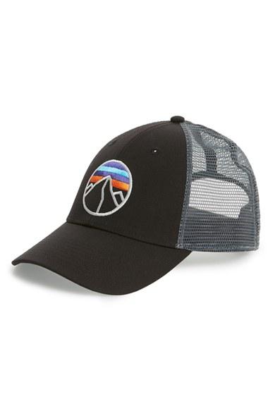 afaff4f2352 Lyst - Patagonia  fitz Roy Emblem  Trucker Hat in Black for Men