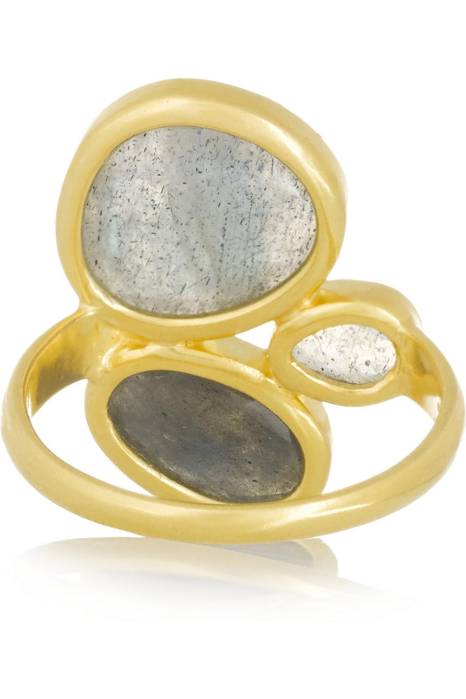 Pippa Small 18-karat Gold Labradorite Ring kq1nc