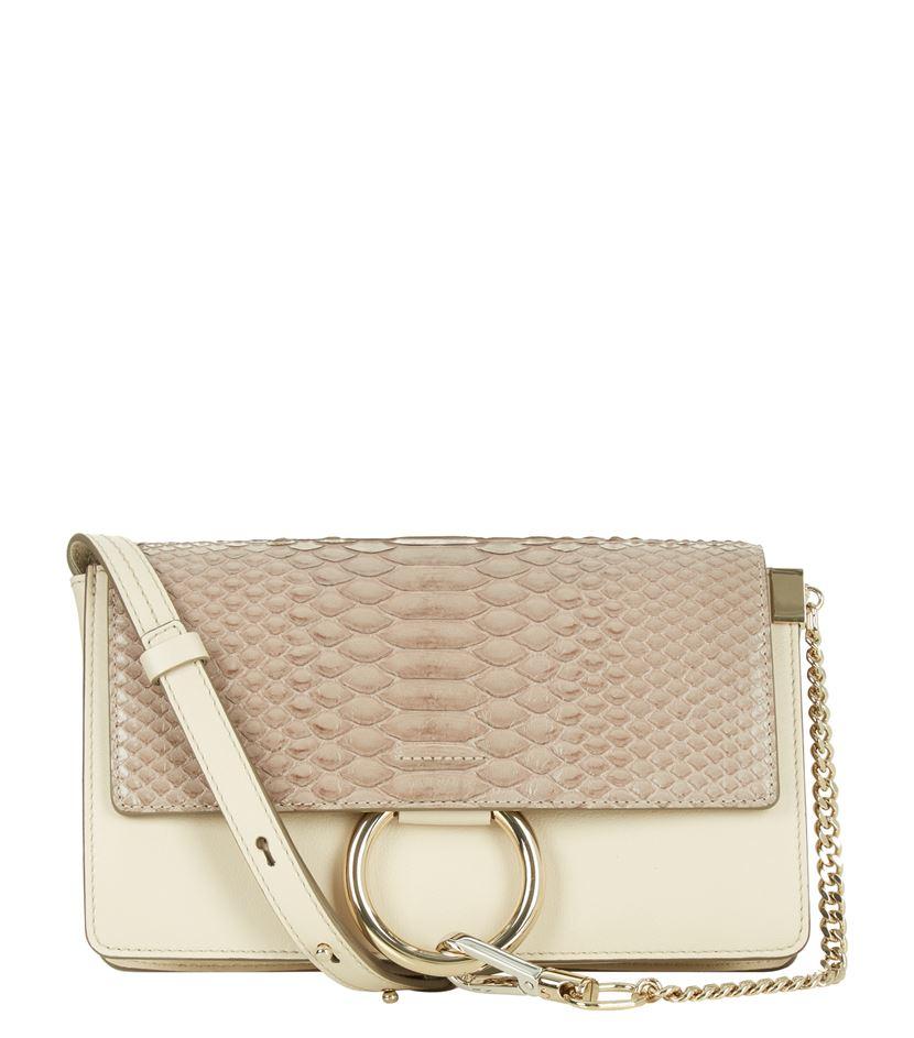 chloe chloe bags - Chlo�� Small Faye Python Shoulder Bag in Beige | Lyst