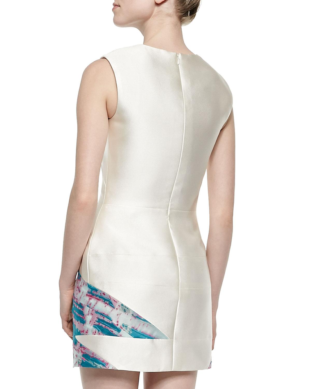 J Mendel Sleeveless Jacquard Skirt Dress In Metallic Lyst