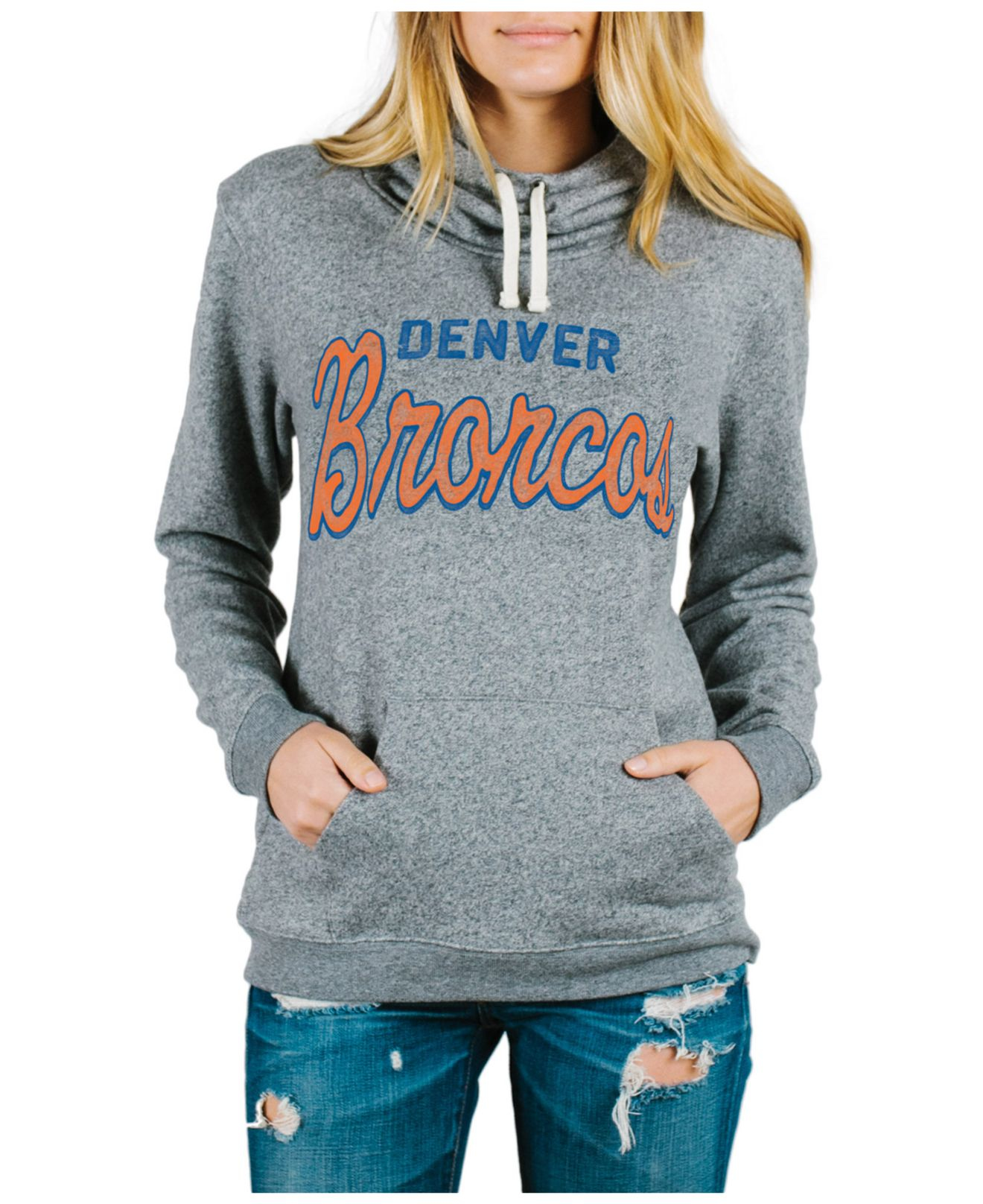 d6d117f86bb Lyst - Junk Food Women's Denver Broncos Sunday Hoodie in Gray