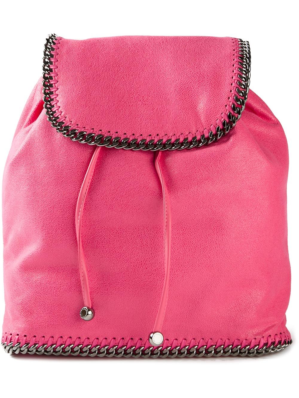 stella mccartney chain trim rucksack in pink lyst. Black Bedroom Furniture Sets. Home Design Ideas