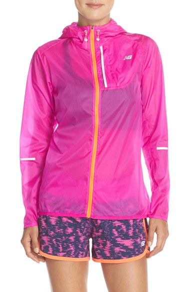 New balance Lite Packable Windbreaker Jacket in Pink | Lyst