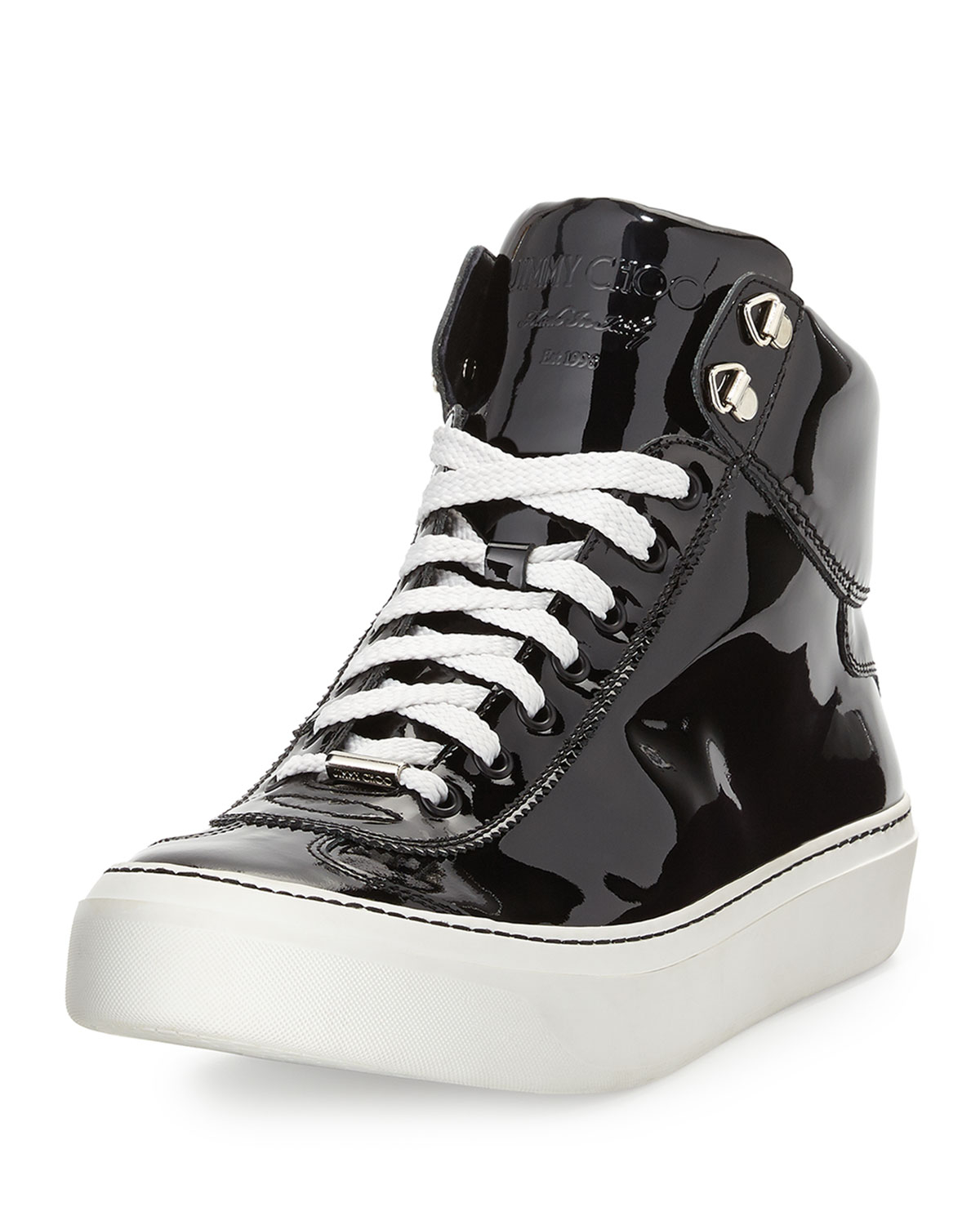 Lyst Jimmy Choo Argyle Patent Leather Hightop Sneaker In
