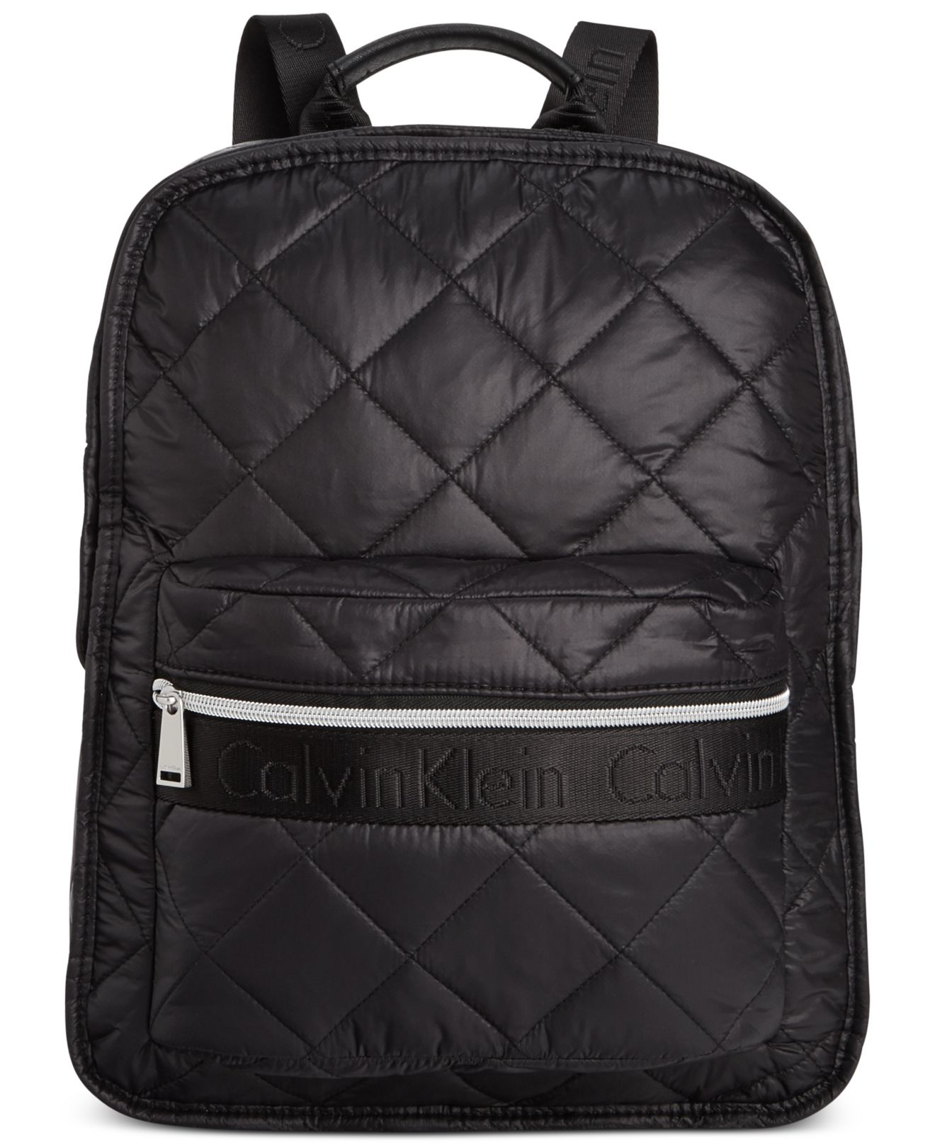 Lyst Calvin Klein Cire Nylon Quilted Backpack In Metallic