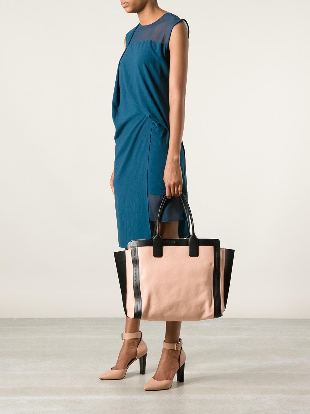 chloe replica bag - Chlo�� Alison Tote in Pink (pink \u0026amp; purple)   Lyst
