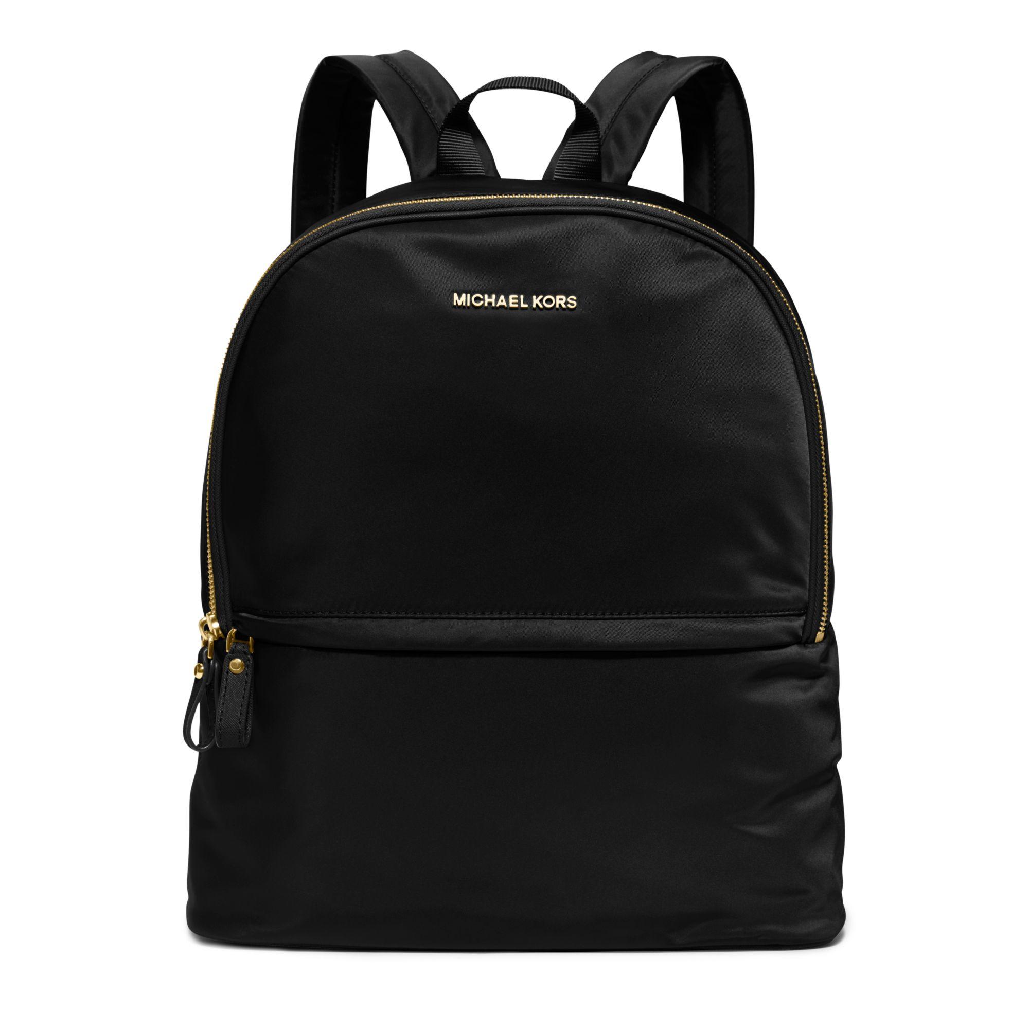 6d5ca36bf261 ... Michael kors Kieran Large Nylon Backpack in Black Lyst ...