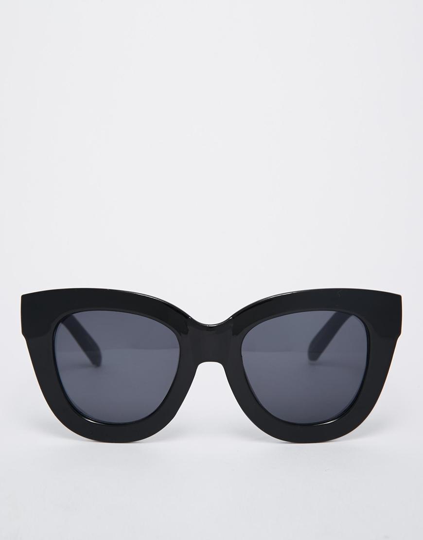 b3436bfa31 Lyst - Quay Sugar   Spice Cat Eye Sunglasses in Black