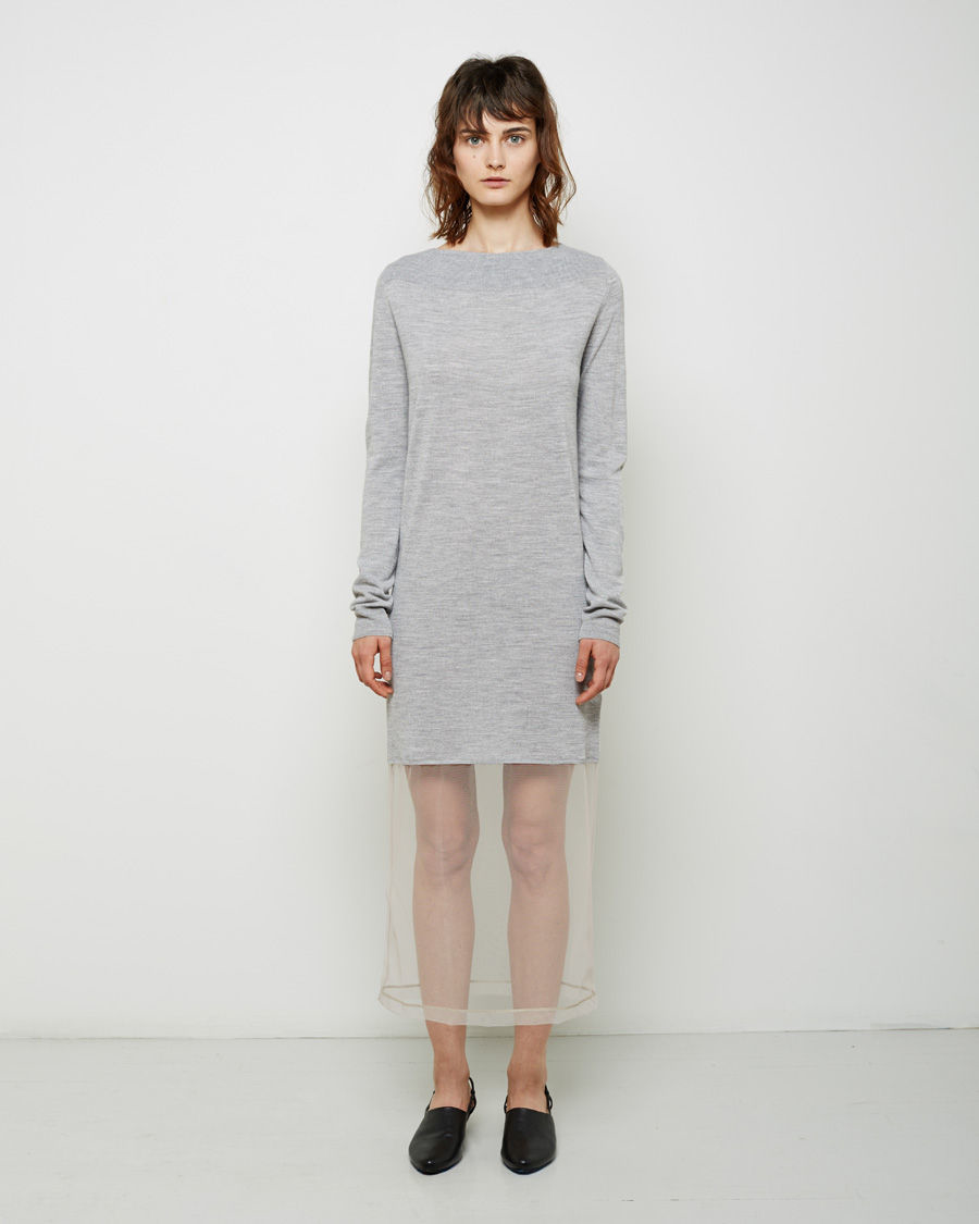02a94258dce Maison Margiela Tulle Layer Knit Tunic in Gray - Lyst