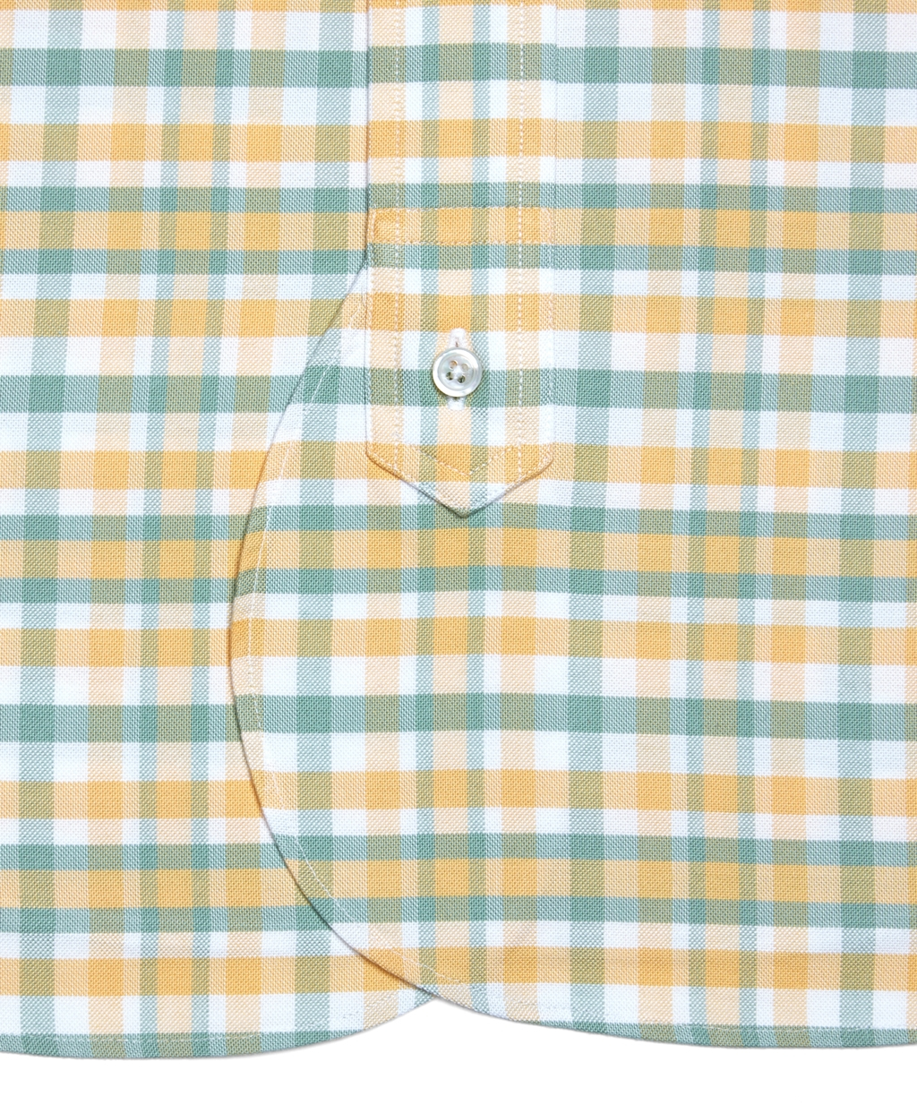 Brooks brothers check oxford short sleeve shirt in yellow Brooks brothers shirt size guide