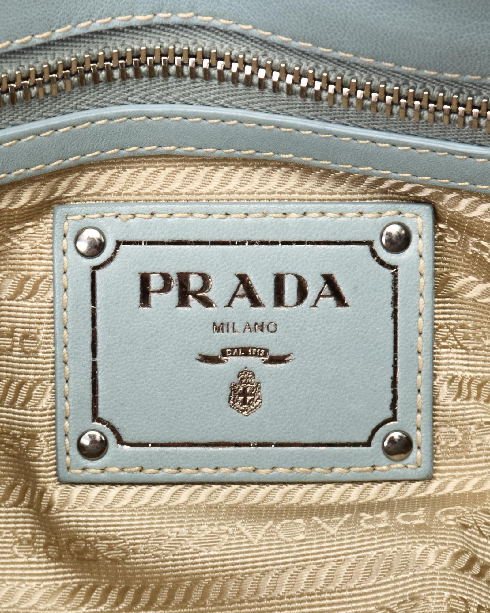 a2918bf496bd Lyst - Prada Nappa Gaufre Bag - Vintage in Blue